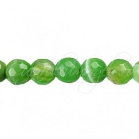 Agate striate fatetate verde mar 12 mm