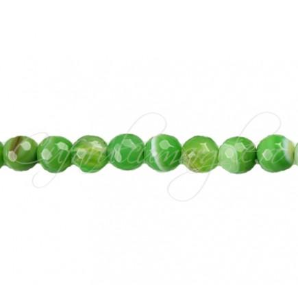 Agate striate fatetate verde mar 6 mm
