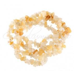 Aventurin galben chips 5-8mm sirag 90cm