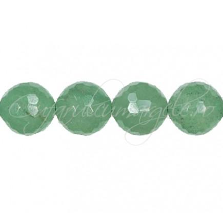 Aventurin verde sferic fatetat 12 mm