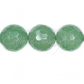 Aventurin verde sferic fatetat 14 mm