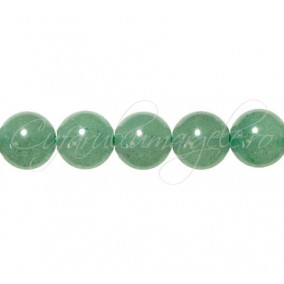 Aventurin verde sferic nefatetat 10 mm