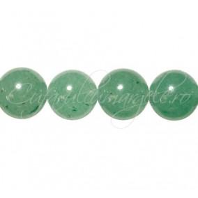 Aventurin verde sferic nefatetat 12 mm