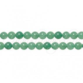 Aventurin verde sferic nefatetat 4 mm