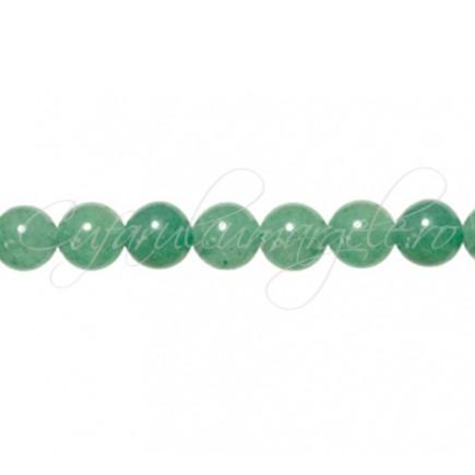 Aventurin verde sferic nefatetat 8 mm