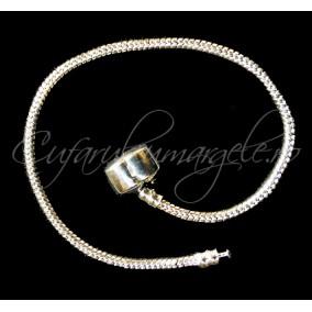 Baza bratara Pandora alb argintiu clasp 20 cm