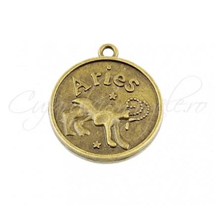 Baza cabochon bronz zodii Aries 30x28mm