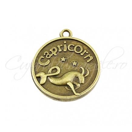 Baza cabochon bronz zodii Capricorn 30x28mm