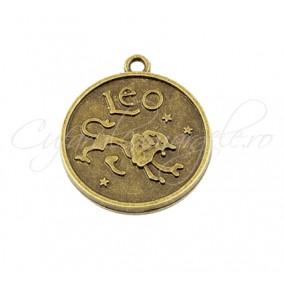 Baza cabochon bronz zodii Leo 30x28mm