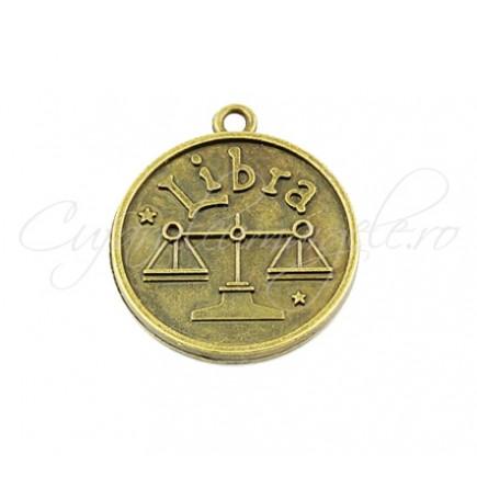 Baza cabochon bronz zodii Libra 30x28mm