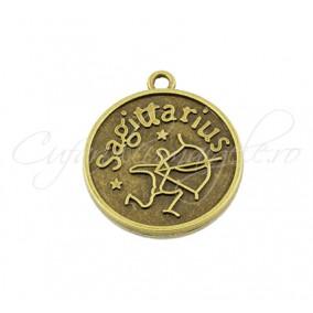 Baza cabochon bronz zodii Sagittarius 30x28mm