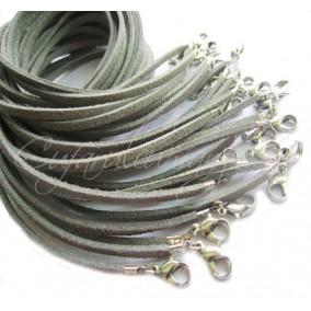 Baza colier faux suede gri 45 cm