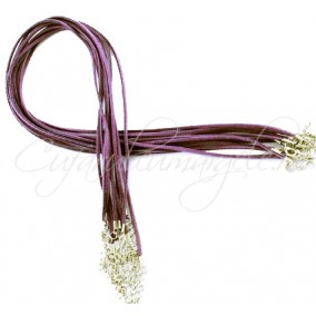 Baza colier faux suede mov 45 cm