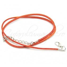 Baza colier faux suede oranj 45 cm