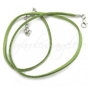 Baza colier faux verde crud 45 cm