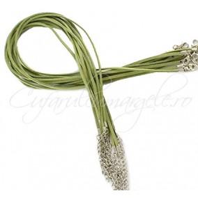 Baza colier faux verde oliv 45 cm
