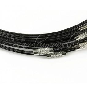 Baza siliconata colier negru 45 cm