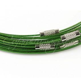 Baza siliconata colier verde 45 cm