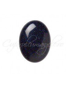 Blue goldstone cabochon oval 16x12mm