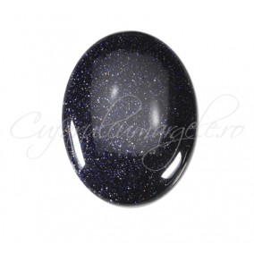 Blue goldstone cabochon oval 25x18mm