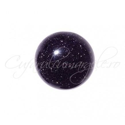 Blue goldstone cabochon rotund 10mm