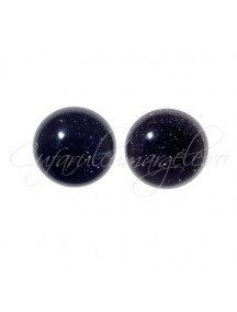 Blue goldstone cabochon rotund 8mm