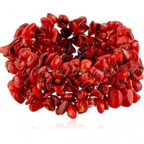 Bratara chips coral rosu 3cm