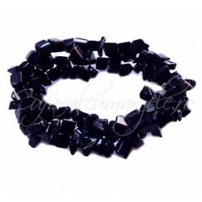 Bratara chips piatra soarelui albastru 3cm