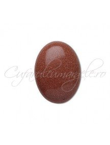 Brown goldstone cabochon oval 20x15mm