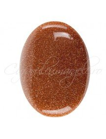 Brown goldstone cabochon oval 40x30mm