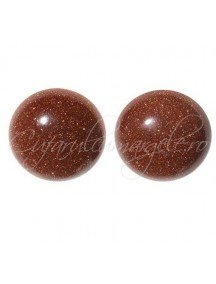 Brown goldstone cabochon rotund 10mm