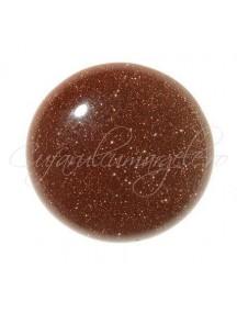 Brown goldstone cabochon rotund 12mm