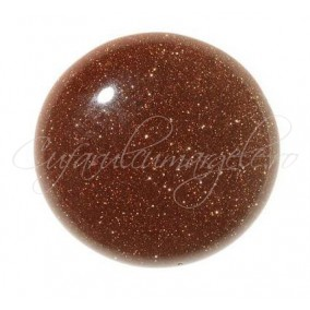 Brown goldstone cabochon rotund 12mm