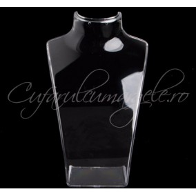 Bust acril alb transparent 14x21cm