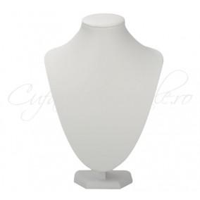 Bust alb coliere imitatie piele 21x30 cm