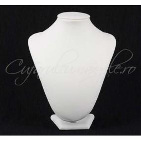 Bust alb imitatie piele cu burete 20x25cm