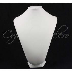 Bust alb imitatie piele cu burete 28x36cm