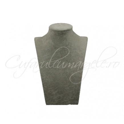 Bust catifea gri umeri drepti 14x24cm