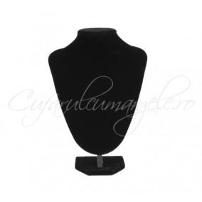 Bust coliere velur negru cu burete 20x25 cm