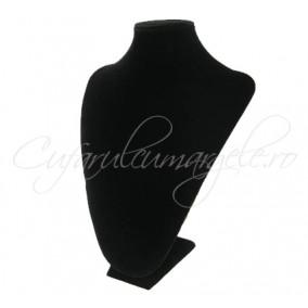 Bust coliere velur negru cu burete 21x30 cm