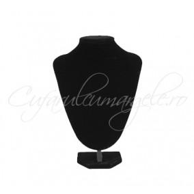 Bust coliere velur negru cu burete 15x21 cm