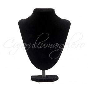 Bust coliere velur negru fara burete 21x28cm
