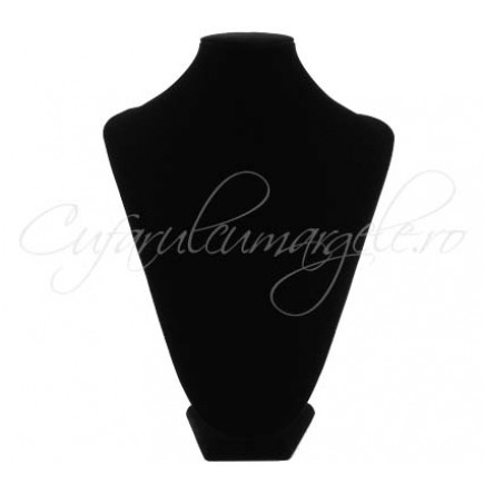 Bust coliere velur negru fara burete 24x36cm