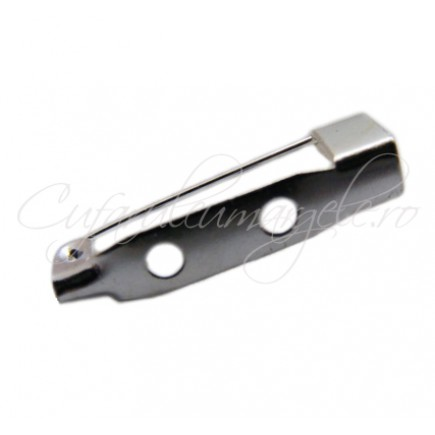 Cadru argintiu brosa 2,5 cm ac siguranta