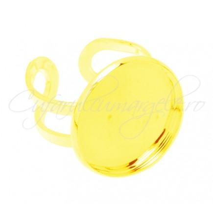 Cadru inel auriu cabochon rotund 20mm