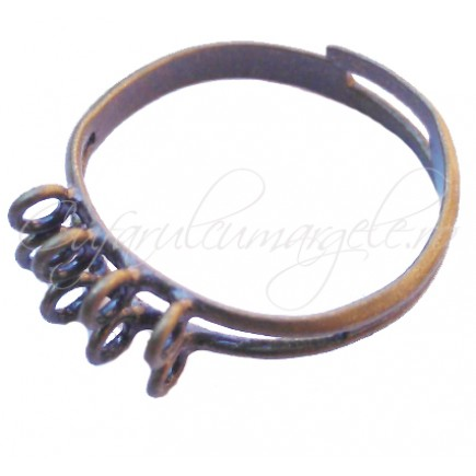 Cadru inel bronz 8 anouri