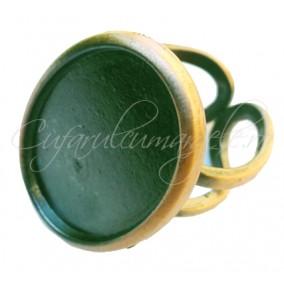 Cadru inel bronz cabochon oval 25x18mm