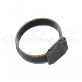 Cadru inel bronz cabochon patrat 10x10mm