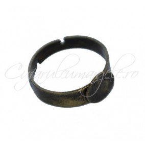 Cadru inel bronz cabochon rotund 8mm