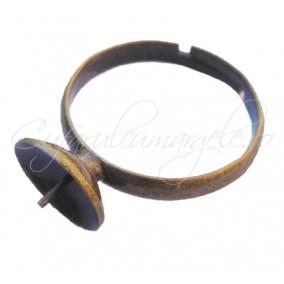 Cadru inel bronz cupa pin 10mm